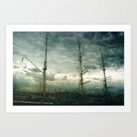 sailboat Art Prints featuring Sailboat by Fine2art