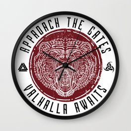 Valhalla Awaits | BLK Wall Clock