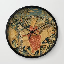 Two Scenes from Der Busant Wall Clock