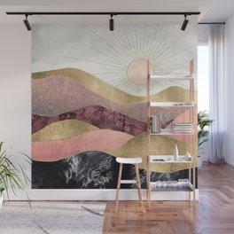 Blush Sun Wall Mural