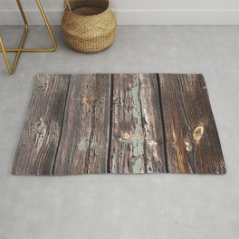 Aged Wood rustic decor Rug