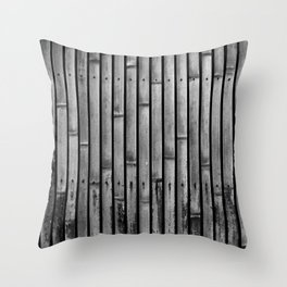 Kyoto Textures I: Split Bamboo Throw Pillow