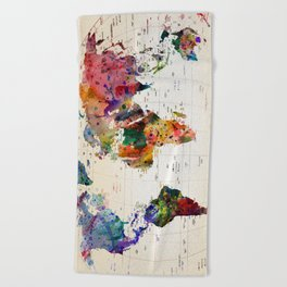 map Beach Towel