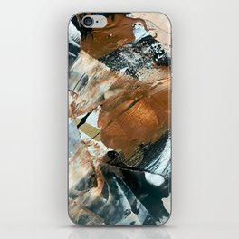 Chocolate Kisses [2]: A bold, minimal, abstract piece in pink, gold, brown, black and white iPhone Skin