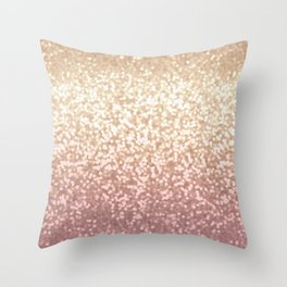 Champagne Gold Blush Pink Glittery Ombre Pattern #society6 Throw Pillow