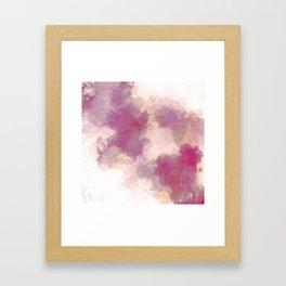Mauve Dusk Abstract Cloud Design Framed Art Print