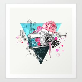 Focus on beauty Art Print