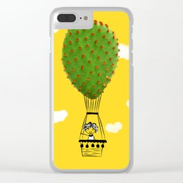 air balloon cactus Clear iPhone Case