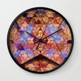 Triangles at Night Wall Clock