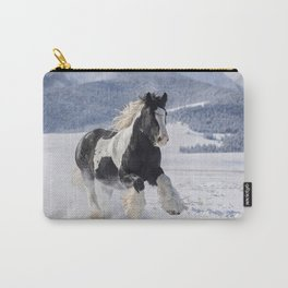 Gypsy Vanner in Snow Carry-All Pouch