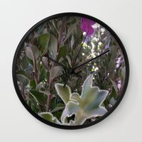 plant Wall Clocks featuring Plant by ANoelleJay