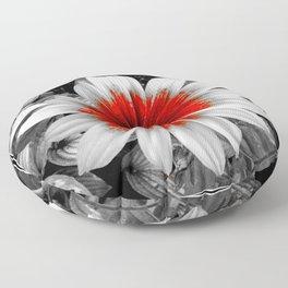 Red Stroke Gaillardia Flower | Nadia Bonello Floor Pillow