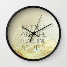 Sunshine & Friendship Wall Clock
