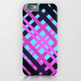Geometric pop pink black rock iPhone Case