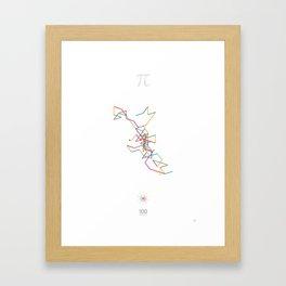 The Art in Pi - 100 digits walk Framed Art Print