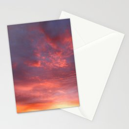 Twilight sky in glowing clouds Stationery Cards