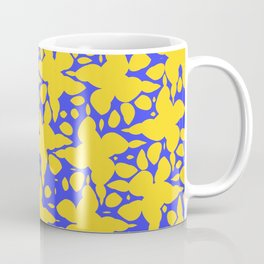 Asymmetry collection: abstract flowers in the water Coffee Mug