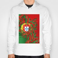 portugal Hoodies featuring Portugal by Danny Ivan