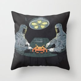 Alien Autopsy Throw Pillow