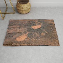 Desert Rock Art - Petroglyphs - II Rug