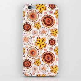 Organic Medallions -Burnt Orange iPhone Skin