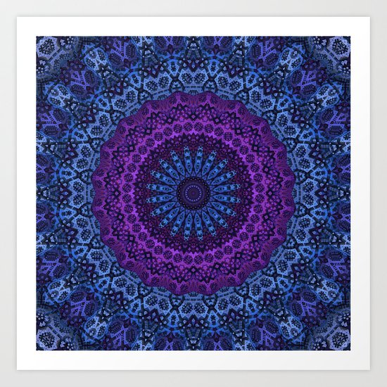 Twilight Mandala Art Print