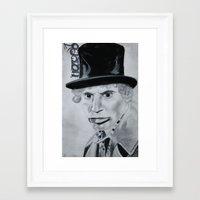 marx Framed Art Prints featuring Harpo Marx by MarinaSH