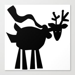 Reindeer with Scarf Canvas Print
