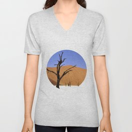 desert tree 4 Unisex V-Neck
