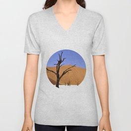 desert tree 4 Unisex V-Neck