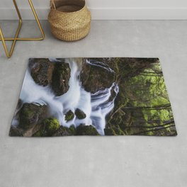 Magical waterfall in gorge Hell Rug