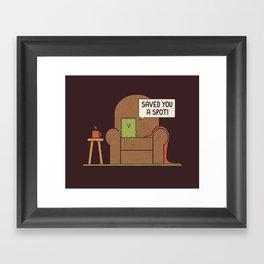 Saved You a Spot Framed Art Print
