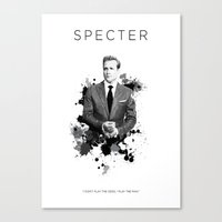 valar morghulis Canvas Prints featuring Certified Badass: Harvey Specter by Kooconcept
