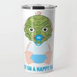Put on a Happy Face Travel Mug