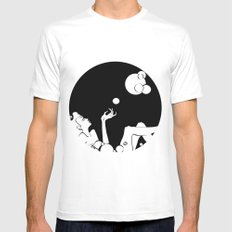 bubble  Mens Fitted Tee MEDIUM White