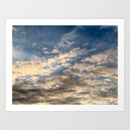 Adirondack Sunset Clouds Art Print