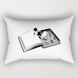 Drenched through my mind Rectangular Pillow