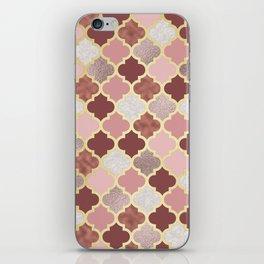 Warm rose gold moroccan iPhone Skin