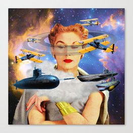 subs in space Canvas Print