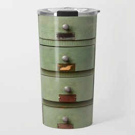 Old wooden cabinet with drawers Travel Mug