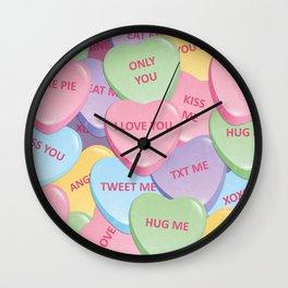 Valentine's candies Wall Clock