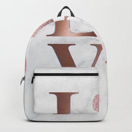 Love is a Four Letter Word - Rose Gold and Marble Backpack