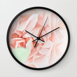soft and pink Wall Clock