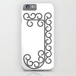 """Letter """"J"""" in beautiful design Fashion Modern Style iPhone Case"""