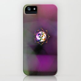 Space Om iPhone Case