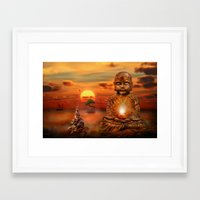 buddha Framed Art Prints featuring Buddha by teddynash