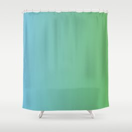 Blue and Green Transition Shower Curtain