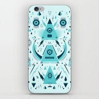 transformer iPhone & iPod Skins featuring Triangle Alien Transformer Attack  by badbugs_art