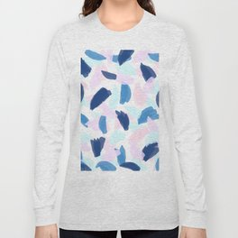 Blue and Pink Paint Long Sleeve T-shirt