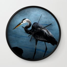 Great Blue On The Rocks Wall Clock